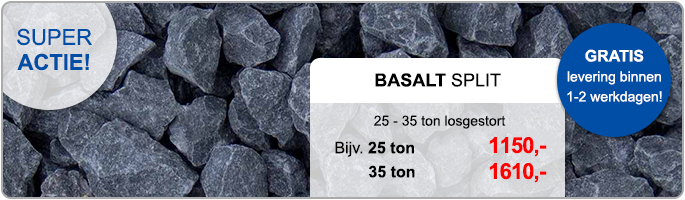 BS Basalt split losgestort aanbieding