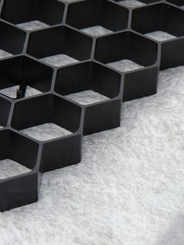 EuroGravel grindplaat zwart detail