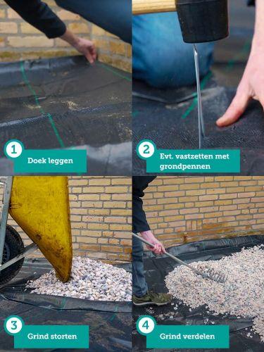 worteldoek aanleggen onder grind of split: stappenplan